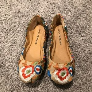 Embroidered emmie flats